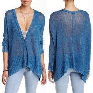 Free People    Knit Drape Linen Cardigan